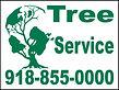 Tree service street sign