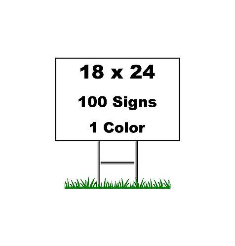 100  (18x24)