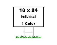 Individual Sign (18x24)