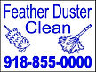 Feather cleaning Yard signs