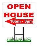 Open House Street Sign