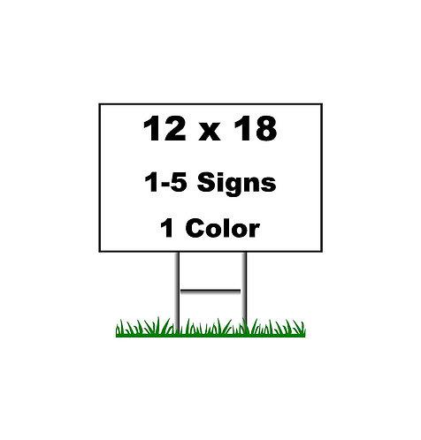 1-5 Signs $20 ea.