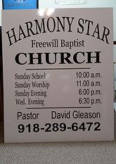 Church Decal Sign