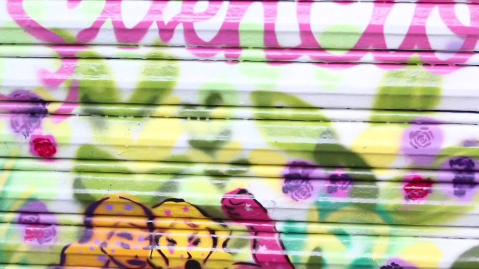 video del proceso del mural