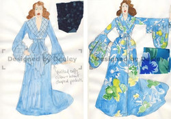 Glamorous dressing gowns