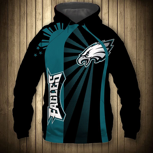 OFFICIAL-N.F.L.PHILADELPHIA-EAGLES-PULLOVER-HOODIES/NEW-3D-CUSTOM-PRINTED-DESIGN