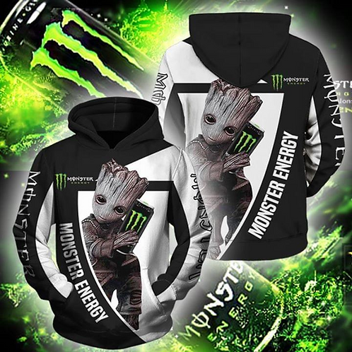 OFFICIAL-MONSTER-ENERGY-PULLOVER-HOODIE/CUSTOM-3D-GRAPHIC-PRINTED-ANIMATED-GROOT