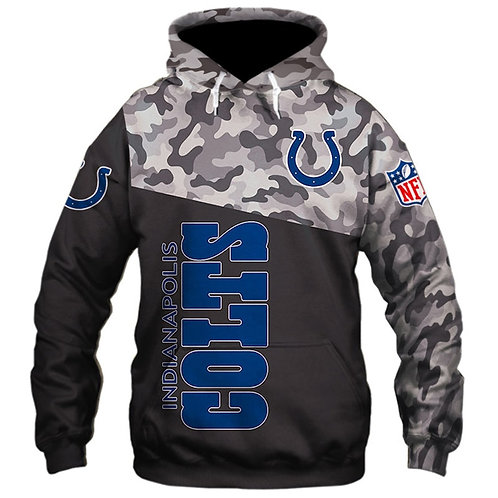 OFFICIAL-N.F.L.INDIANAPOLIS-COLTS-CAMO.DESIGN-PULLOVER-HOODIES/CUSTOM-3D-PRINTED