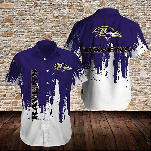 OFFICIAL-BALTIMORE-RAVENS-BUTTON-SPORT-SHIRTS/CUSTOM-3D-GRAPHIC-PRINTED-DESIGN!!