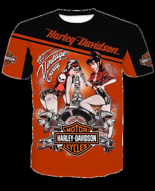 HARLEY-DAVIDSON-MOTORCYCLE-BIKER-FASHION-TEES/CUSTOM-3D-HARLEY-VINTAGE-GARAGE!!