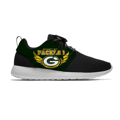 OFFICIAL-N.F.L.GREEN-BAY-PACKERS-LIGHT-WEIGHT/NEW-CUSHIONED-SPORT-RUNNING-SHOES!