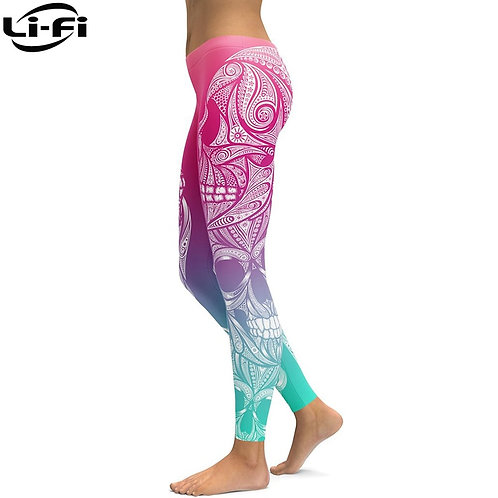 LI-FI High-Waist-Pink-Legging/Womens Fitness Sport Style Casual Premium Leggings
