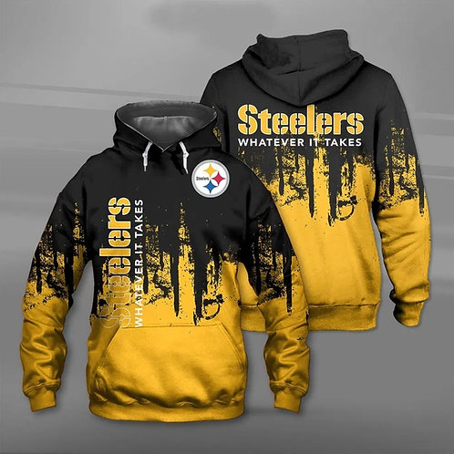 OFFICIAL-N.F.L.PITTSBURGH-STEELERS-TEAM-PULLOVER-HOODIE/WHATEVER-IT-TAKES-SLOGAN