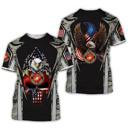 OFFICIAL-U.S.MARINES-MILITARY-TEES/NEW-GRAPHIC-PRINTED-3D-CAMO.PUNISHER-SKULL!!