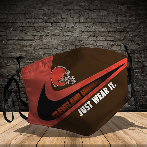 OFFICIAL-CLEVELAND-BROWNS-TEAM-PROTECTIVE-FACE-MASK/NEW-CUSTOM-3D-PRINTED DESIGN