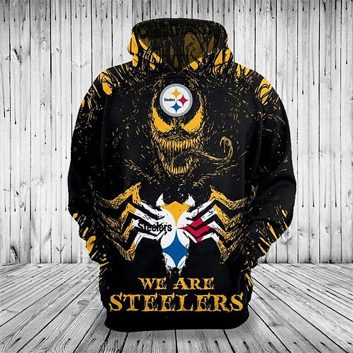 **(OFFICIAL-N.F.L.PITTSBURGH-STEELERS-PULLOVER-HOODIES)**