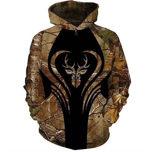 CUSTOM-3D-WOODLAND-CAMO.ZIPPERED-HOODIE/3D-GRAPHIC-PRINTED-DOUBLE-SIDED-HOODIES!