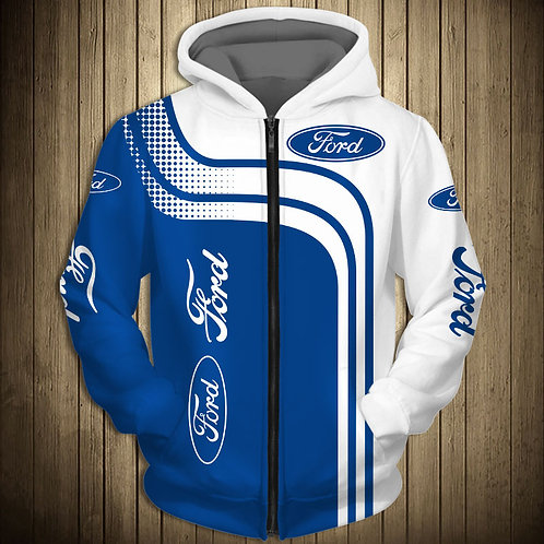 OFFICIAL-FORD-ZIPPERED-HOODIE/NEW-CUSTOM-3D-FORD-GRAPHIC-PRINTED-ALL-OVER-DESIGN
