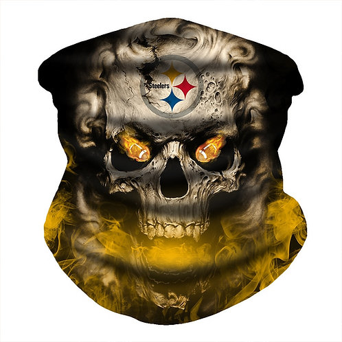 OFFICIAL-N.F.L.PITTSBURGH STEELERS-FACE & GAITER-NECK-SCARF/MULTI-USE-SPORT-MASK