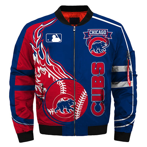 OFFICIAL-M.L.B.CHICAGO-CUBS-TEAM-FLIGHT-JACKETS/NEW-CUSTOM-DETAILED-3D-GRAPHICS!