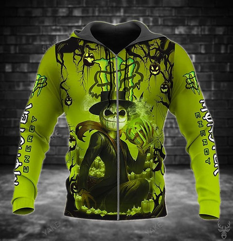 OFFICIAL-MONSTER-ENERGY-LOGOS-ZIPPERED-HOODIE/CUSTOM-3D-MONSTER-JACK-SKELLINGTON
