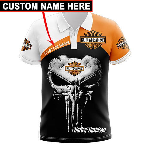 OFFICIAL-HARLEY-DAVIDSON-POLO-SHIRTS/WE-CUSTOMIZE-WITH-YOUR-NAME-OR-ANYTHING!!