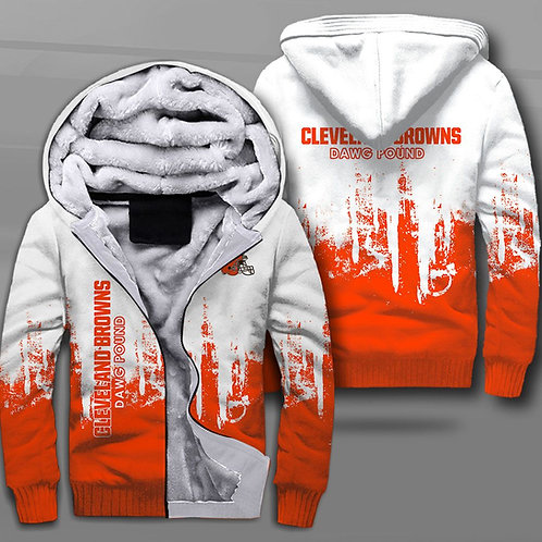 OFFICIAL-N.F.L.CLEVELAND-BROWNS-FLEECE-LINED-HOODIES/CUSTOM-3D-DAWG-POUND-LOGOS!