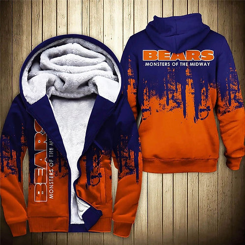 OFFICIAL-N.F.L.CHICAGO-BEARS-TEAM-FLEECE-HOODIES/CUSTOM-MONSTERS-OF-THE-MIDWAY!!
