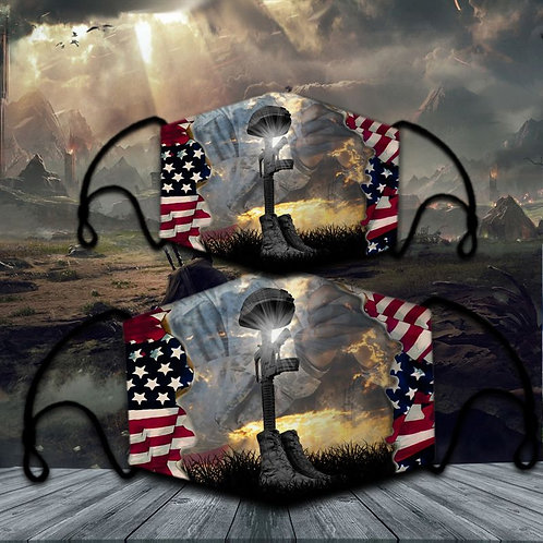 OFFICIAL-U.S.MILITARY-VETERANS-PROTECTIVE-FACE-MASK/CUSTOM-3D-PRINTED DESIGNED!!