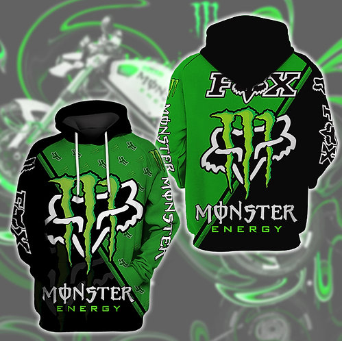 OFFICIAL-MONSTER-ENERGY & FOX-RACING-PULLOVER-HOODIES/CUSTOM-3D-GRAPHIC-DESIGNED