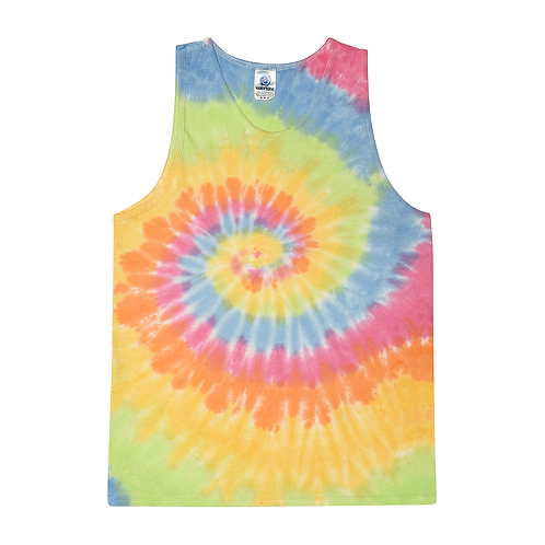 TRENDY-NEW-NEON-COLOR-ETERNITY-SPIRAL-PATTERN/TYE-DYED-PREMIUM-SUMMER-TANK-TOPS!