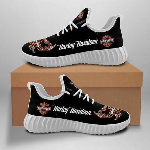 HARLEY-DAVIDSON-MOTORCYCLE-WHITE-RIDING-SPORT-SHOE/CUSTOM-3D-DESIGN-HARLEY-LOGOS