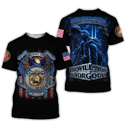 OFFICIAL-U.S.MARINES-VETERANS-MILITARY-TEES/NEW-CUSTOM-3D-GRAPHIC-PRINTED-DESIGN