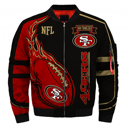 *NEW-OFFICIAL-N.F.L.SAN-FRANCISCO-49ERS-JACKETS/CLASSIC-N.F.L.49ERS-TEAM-COLORS*