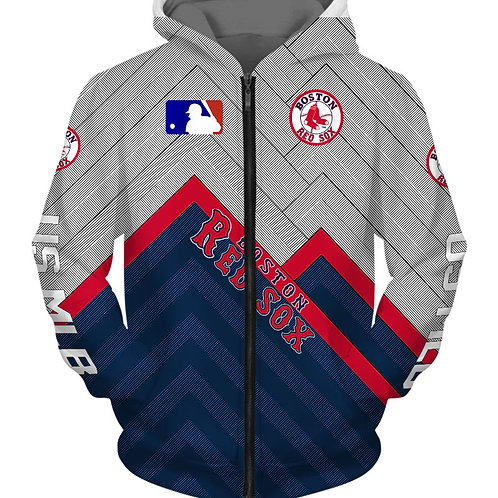 OFFICIAL-M.L.B.BOSTON-RED-SOXS/3D-CUSTOM-GRAPHIC-PRINTED-TEAM-ZIPPERED-HOODIES!