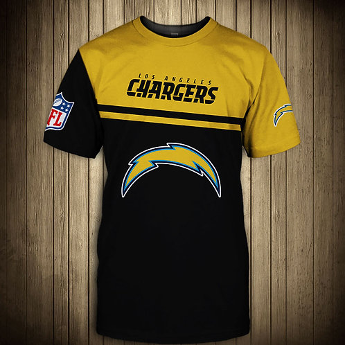 OFFICIAL-N.F.L.LOS-ANGELES-CHARGERS-TEAM-TEES/CUSTOM-3D-EFFECT-GRAPHIC-PRINT-TEE
