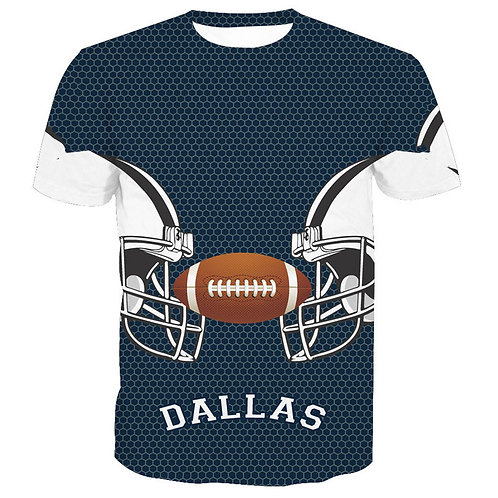 *OFFICIAL-N.F.L.DALLAS-COWBOYS/NEW-3D-CUSTOM-GRAPHIC-PRINTED-TEAM/GAME-DAY-TEES*