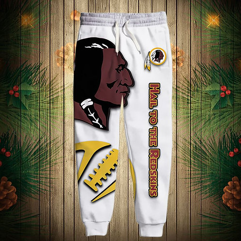 OFFICIAL-N.F.L.WASHINGTON-REDSKINS-TEAM-SWEAT-PANTS/CUSTOM-HAIL-TO-THE-REDSKINS!