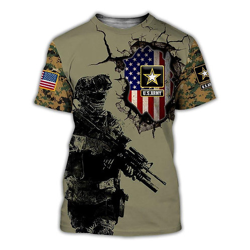OFFICIAL-U.S.ARMY-SHORT-SLEEVE-TEES/CUSTOM-3D-GRAPHIC-PRINTED-ARMY-LOGOS & FLAG!