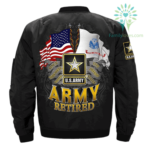 OFFICIAL-U.S.ARMY-VETERAN/THIS-WE'LL-DEFEND/CUSTOM-3D-ARMY-RETIRED-FLIGHT-JACKET