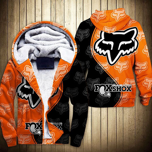 OFFICIAL-FOXSHOX-RACING-ZIPPERED-FLEECE-HOODIES/3D-GRAPHIC-PRINTED-DOUBLE-SIDED!
