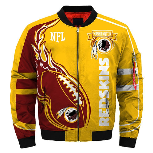 OFFICIAL-N.F.L.WASHINGTON-REDSKINS-CUSTOM-JACKETS/CUSTOM-3D-GRAPHIC-PRINT-DESIGN