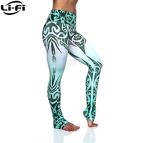 LI-FI High-Waist-Green-Legging/Womens Fitness Sport Style Casual Premium Legging