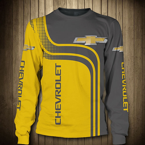 OFFICIAL-CHEVY-LONG-SLEEVE-TEES/NEW-CUSTOM-3D-GRAPHIC-PRINTED-DOUBLE-SIDED-TEES!
