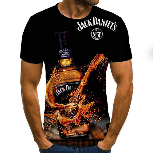 OFFICIAL-JACK-DANIELS-SHORT-SLEEVE-TEES/CUSTOM-3D-PRINTED-DESIGN-OLD-NO.7-BRAND!