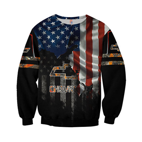 OFFICIAL-CHEVY-LONG-SLEEVE-TEES/CUSTOM-3D-PRINTED-PATRIOTIC & CHEVY-CAMO.LOGOS!!