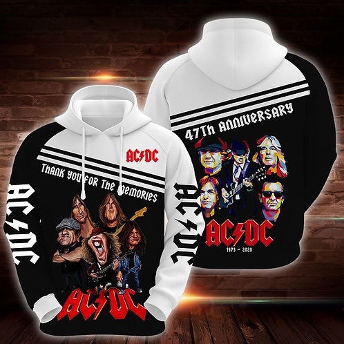 OFFICIAL-AC/DC-CLASSIC-ROCK-BAND-PULLOVER HOODIE/CUSTOM-47TH-ANNIVERSARY-EDITION
