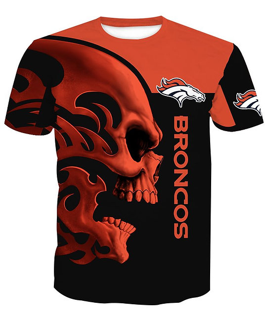 OFFICIAL-N.F.L.DENVER-BRONCOS-PULLOVER-HOODIES/CUSTOM-3D-PRINT-TEAM-TRIBAL-SKULL