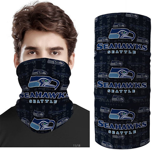 OFFICIAL-N.F.L.SEATTLE-SEAHAWKS-FACE & GAITER-NECK-SCARFS/MULTI-USE-SPORT-MASK!!