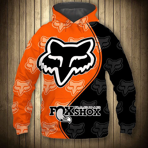 OFFICIAL-FOXSHOX-RACING-PULLOVER-HOODIES/CUSTOM-3D-GRAPHIC-PRINTED-DOUBLE-SIDED!